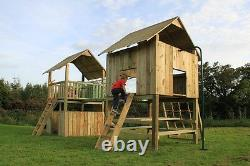 Price Reduced RRP £1895 QUALITY Double TOWERS CLIMBING FRAME 5ft BASE