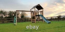 QUALITY 6ft CLIMBING FRAME, RSP £1095, Picnic, Monkey Bars, 3 swings, slide