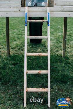 QUALITY Double TOWERS CLIMBING FRAME 5ft BASE RRP £1595 HUGE SPEC GREAT VALUE
