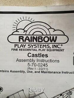 Rainbow Play System Outdoor Wooden Climbing Frame Fiesta Castle
