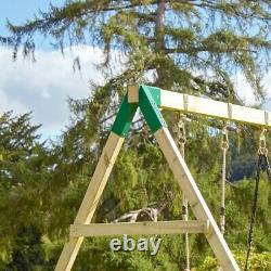Rebo Adventure Playset Wooden Climbing Frame, Swing Set and Slide Fuji