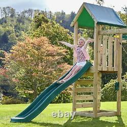Rebo Challenge Wooden Climbing Frame with Swings, Slide & Climbing wall Bear