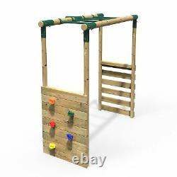 Rebo Monkey Bar Extension Kit for Round Wood Swing Frames Add on Kit
