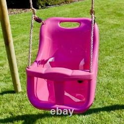 Rebo Wooden Swing Set with Deck & Slide plus Up & Over Climbing Wall Moonstone