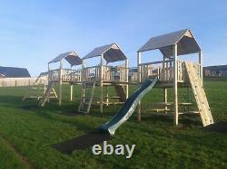 SALE! TRIPLE TOWER QUALITY CLIMBING FRAME 6ft BASE RSP £2795 Reduced Price VALUE