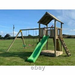 STACKS MOUNTAIN 5ft look out tower, swing module, rock wall, climbing frame