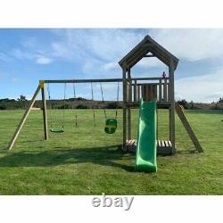 STACKS MOUNTAIN Jungle Gym, Tower, Swing Arm, Steps, Bespoke, 9ft Wave Slide