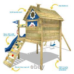 Swing Set Climbing Frame Swing and Slide TreeHouse Garden WICKEY Smart Travel