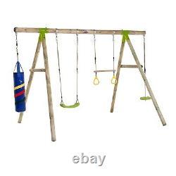 Swing Set Kids Toddler Baby Wooden Garden Swing Climbing Frame Capuchin Set