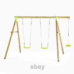 Swing Set Kids Toddler Baby Wooden Garden Swing Climbing Frame Loris Set