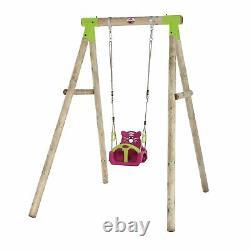 Swing Set Kids Toddler Baby Wooden Garden Swing Climbing Frame Quoll Set