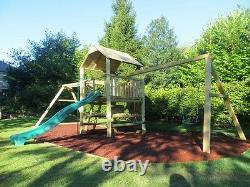 THE CAUSEWAY Monkey Bar, Swing set, 6ft Tower, Slide, Cargo net, Rock Wall