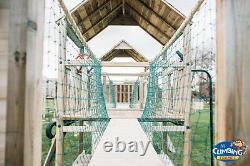 THE HIGHLANDS Triple 6ft towers, Rope Bridges, Swings, Slide, Fireman's Pole