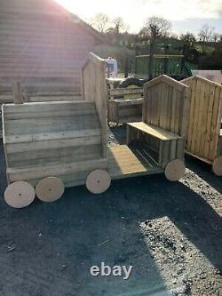 The Carriageway Train Treated En1176. Nursery Commercial Play Unit Set Kids