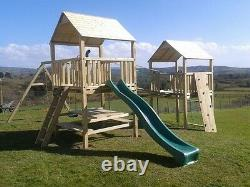 The WORKS Double 6ftsq QUALITY WOODEN CLIMBING FRAME RRP £1795 Jungle Gym SAVE