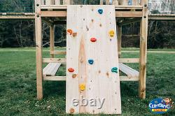 The Works' Double 6ftsq QUALITY WOODEN CLIMBING FRAME, RRP £1795 Bargain Price