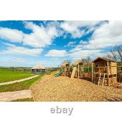Triple Climbing Frame Playhouse, Swings, Slides, Outdoor Toys (LUSTY BEG)