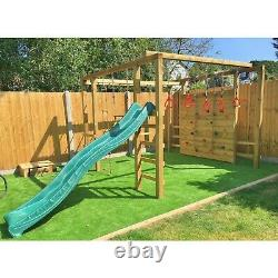 WARRIOR 10ft Squared Play frame, Monkey Bars, Swings, Rock wall, Step up Bars