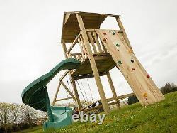 WASHINGTON 5ft tower, Jungle Gym, Swings, Steps, Rock Wall, Open spiral slide