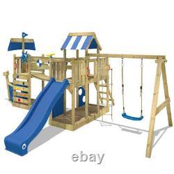 WICKEY ArcticFlyer Wooden Climbing Frame PlayTower SwingSet Slide PlayGround