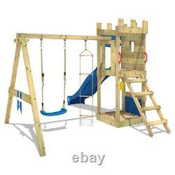 WICKEY KnightFlyer Climbing Frame kids garden castle playground slide swing