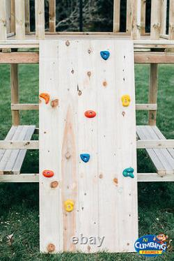 WORKS Double 6foot QUALITY WOODEN CLIMBING FRAME SET extra MONKEY BARS