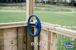 WORKS Double 6ftsq QUALITY WOODEN CLIMBING FRAME Price reduced with SWINGS SLIDE