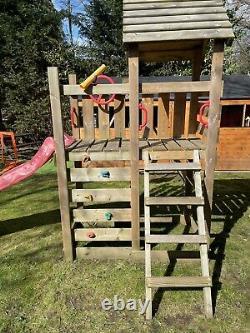Wickey Kids Wooden Climbing Frame Swing Slide Sets Garden Play Set