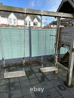 Wickey MultiFlyer Climbing Frame with Swing Green along with rubber matting