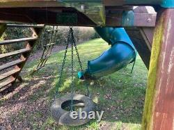 Wooden Climbing Frame, Slide And Swing
