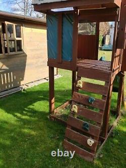 Wooden Climbing Frame Tree House Swings Monkey Bars slide