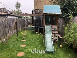 Wooden climbing frame with slide, Swings And Monkey Bars