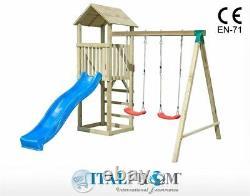 Wooden swing Baby7 garden toys play centre outdoor climbing frame kids