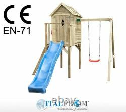 Wooden swing slide play centre outdoor baby7plus climbing frame kids garden