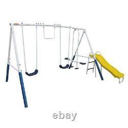 XDP Recreation Blue Ridge Play Outdoor Backyard Playset Kids Swing Set with Slide