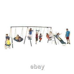 XDP Recreation Deerfield 10 Child Capacity Kids Swing Set Outdoor Playground