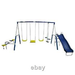 XDP Recreation Playground Galore Outdoor Backyard Kids Swing Set and Anchor Kit
