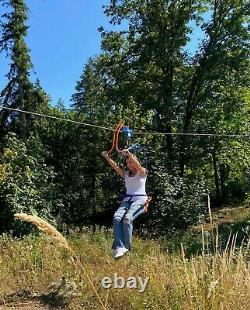 Zip line Trolley Seat / Fun Rotating Swing